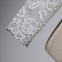 Button Down Short Sleeve Lace Shirt Wedding Bridal Plus Size Crop Lace Shirts image 4