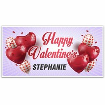 Heart Balloons Valentine's Day Banner Party Decoration Backdrop - $28.22+