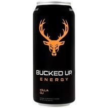 Bucked Up Energy Zero Sugar Energy Drink 16 ounce cans (Killa OJ, 12 Cans) - $46.52