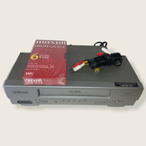 Emerson EWV404 19U 4 Head S-VHS Gray VCR No Remote Tested Works RCA Cables Tape - $39.59