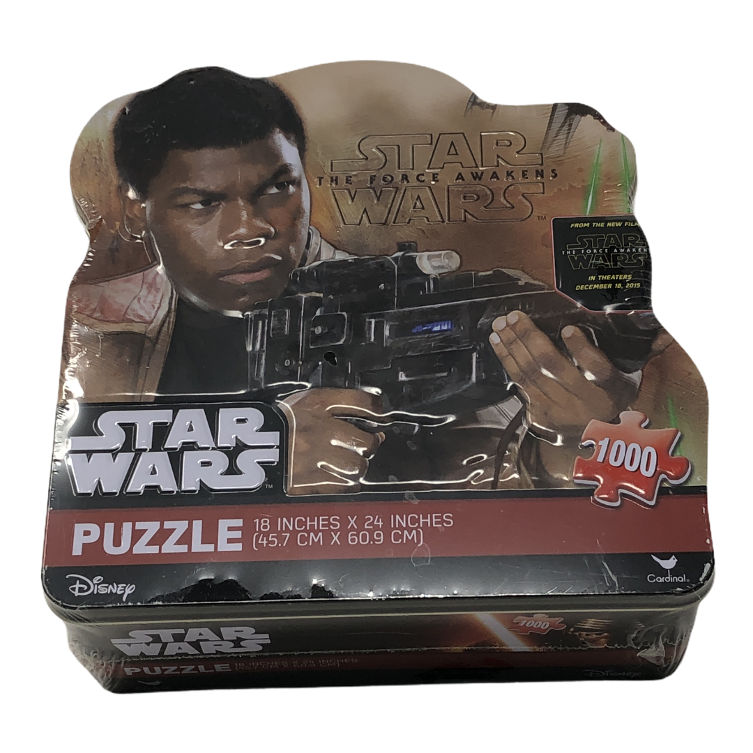 """Disney Star Wars The Force Awakens 1000 pc 18""""x24"""" Puzzle Sealed Collectors Tin - $12.34"""