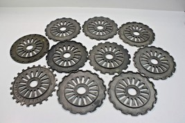 Vintage industrial steampunk cast iron gear sprocket lamp base project L... - $74.44