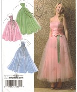 Misses Prom Evening Gown Special Occasion Tulle Chiffon Dress Sew Patter... - $11.99
