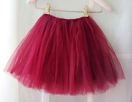 Flower Girl Skirts, Baby Tutu Skirt, Infant Tulle Skirt - Red, Elastic Waist image 3