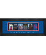 Newman University Officially Licensed Framed Campus Letter Art - $39.95