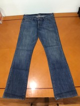 Woman's Old Navy the Diva Light Blue Straight Leg Jeans Size 8 Long - $14.84