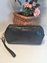 Coach Black Leather Wristlet 49997 Madison Zip Top Wallet Bag New B13 - $91.90
