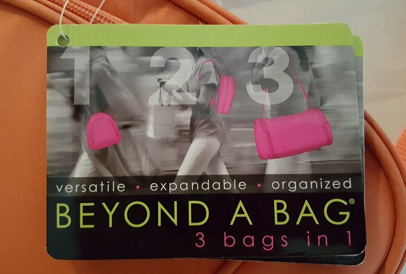 Beyond a Bag 3 Bags in One Backpack, Sling and Duffel Bag NWT
