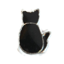 Black Cat Charm for Floating Locket (LCHM-189) - $0.99