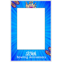 Blue Bowling Anniversary Selfie Frame Poster - $16.34+