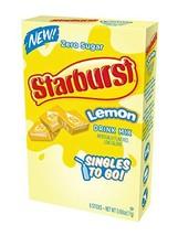 Starburst Singles To Go Zero Sugar Drink Mix, Lemon, 6 CT Per Box Pack of 6 - $21.77