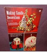 Vintage Making Candle Decorations Gene Taylor 40 Projects Booklet 1968 C... - $11.75