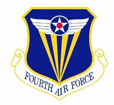 USAF 4th Air Force 12'' Sticker Military - $24.74