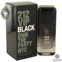 Carolina Herrera 212 VIP Black for Men 3.4oz_100ml Eau De Parfum Perfume... - $145.26