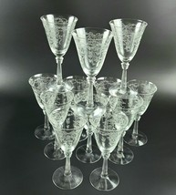 Vintage Romance by Fostoria -Water/ Wine Goblets - Set of 12 - $360.00