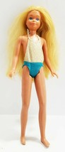 Vintage Sun Tan Barbie Malibu Skipper In bathing suit 1967 Mattel  Nice!! - $23.11