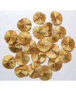 100 flowers gold gota patti flower trims handmade sweing decor clothing ... - $17.67