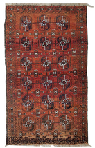 Hand made antique Afghan Baluch rug 3' x 5' ( 92cm x 155cm ) 1900s 1C381 - $1,560.00