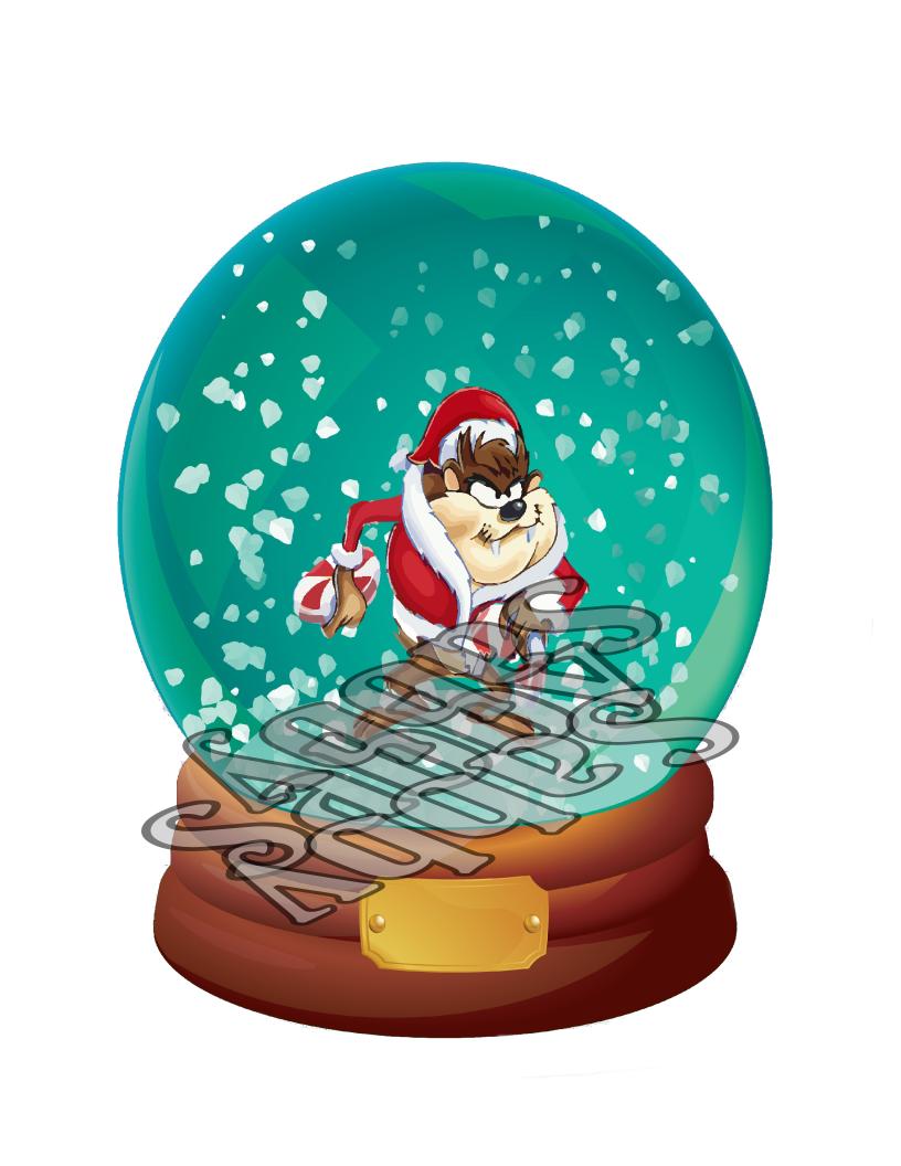 Santa snow dome stock illustration. Illustration of gift - 29028922