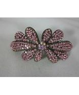 Nolan Miller Grand Flower Bouquet Hair Barrette With Pink Crystals - $29.69