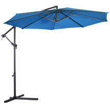10' Patio Outdoor Sunshade Hanging Umbrella-Blue - $100.37