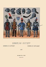 European Armor of the Fifteenth and Sixteenth Centuries by Auguste Racinet - Art - $19.99+