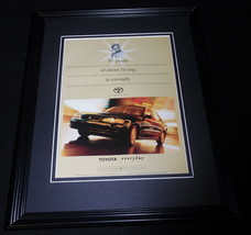 1997 Toyota Corolla Framed 11x14 ORIGINAL Vintage Advertisement - $34.64