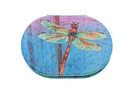 Value Arts Colorful Dragonfly Purse Compact Travel Makeup Mirror and Mag... - $14.06