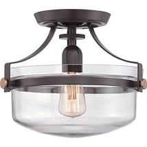 Quoizel UPPS1713WT One Semi-Flush Mount Ceiling Light, Small, Western Br... - $95.83