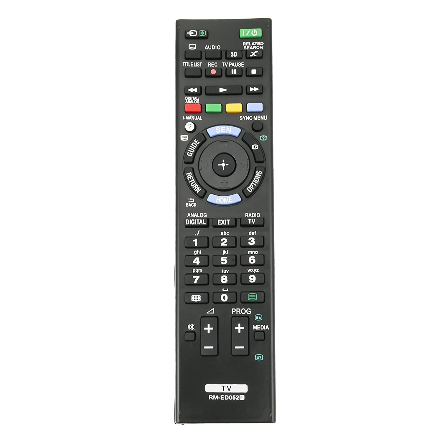 rm-ed052 replaced remote fit for sony tv remote rm-ed050 rm-ed053 rm-ed060 kdl-5 - $15.99