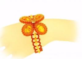 Genuine Baltic amber designer bracelet, vintage inspired - $150.00