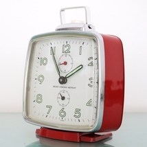 SEIKO CORONA REPEAT Alarm Vintage Clock SUPER Condition RED RETRO 1960s ... - $195.00