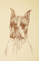 BOXER DOG ART CROPPED Print #44 DRAWN FROM WORDS Kline adds your dogs na... - $49.95