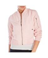 Romeo & Juliet Couture Pink  Cropped Bomber Jacket Sz S, M NWT - $21.25