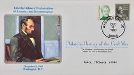 12/8/1990 - Philatelic History Civil War Lincoln Amnesty & Reconstructio... - $10.99