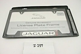 New OEM Jaguar Black License Plate Frame Powder Coated C2A1175 Genuine Jag - $16.83