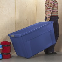 4 PACK 45 Gallon Storage Wheeled Latch Container Tote Large Organizer w/... - $72.73