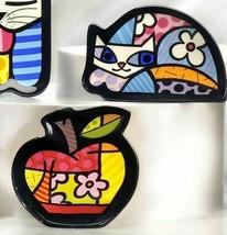 Romero Britto Ceramic Tea Bag Holder - Set of 2
