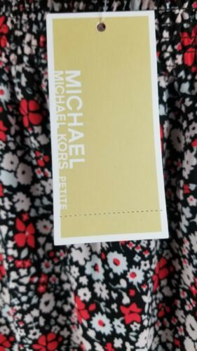 $155 Michael Kors Women's Ballet Off Shoulder Dress Floral Size  P/S image 5