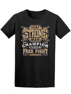Very Strong Man Free Fight Men's Tee -Image by Shutterstock