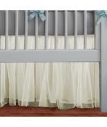 Cream Tulle Lined Ruffled Crib Skirt / Mini Crib Skirt - $39.99+