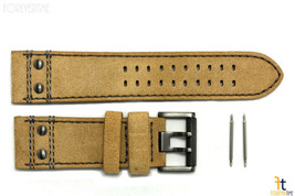 Luminox 1885 Atacama 26mm Leather Tan PVD Buckle Watch Band Strap 1880 - $61.70