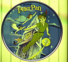 Peter Pan London Clock Tinker bell Tinkerbell Disney Stained Glass 6 inches - $199.99
