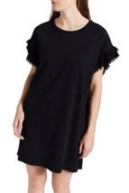 NWOT 148$  Current Elliott T-Shirt Dress THE RECRAFTED RUFFLE Black Ruffle - $29.99