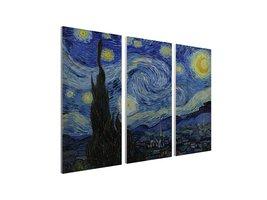 "Pingo World 0227QW2BB9S ""Starry Night by Van Gogh"" Gallery Wrapped Tript... - $128.65"