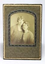 Vintage 1920s 2 WOMEN cabinet photograph Flapper Lesbian Interest 3x4 Se... - $9.74