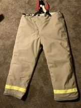GLOBE 46 x 30 Firefighter Turnout Bunker Pants Suspenders Quilted Nomex - $79.19
