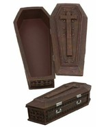 "Vampire Dracula Coffin Jewelry Box Rest In Peace Casket Trinket Box Figurine 8""L - $23.99"