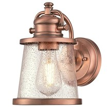 Westinghouse 6361000 Emma Jane One-Light, Washed Copper Finish with Clea... - $53.67