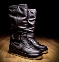Nike Air Force Upstep Warrior Black 860522-001 Hi Top Sneakerboots shoes... - $92.22